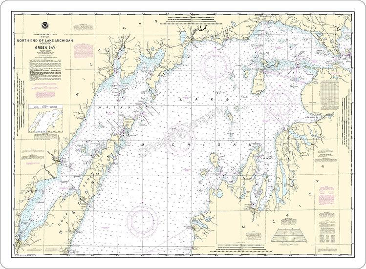 Nautical Chart 14902 'North end of Lake Michigan incl. Green Bay' Placemat
