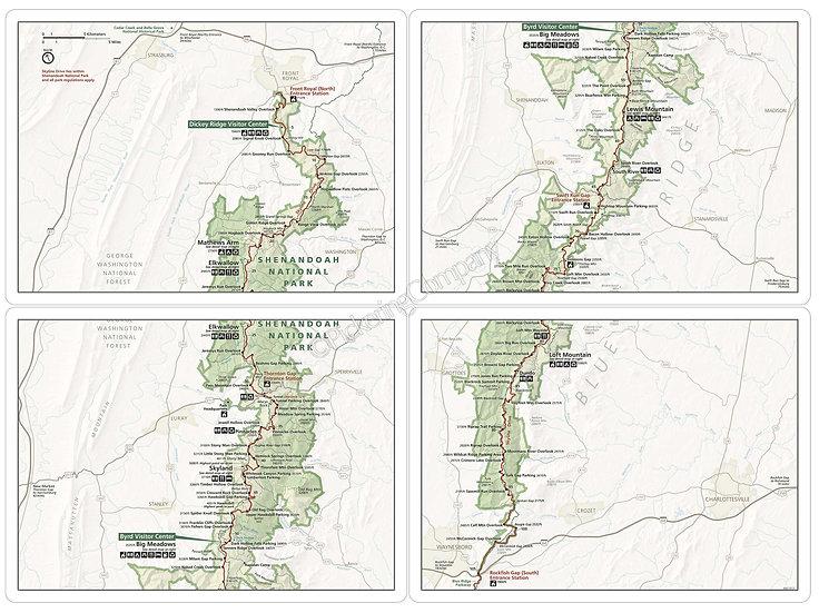 'Shenandoah National Park' Placemats - Set of 4