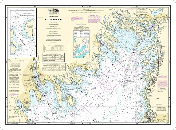 Nautical Chart 13230 'Buzzard's Bay' Placemat