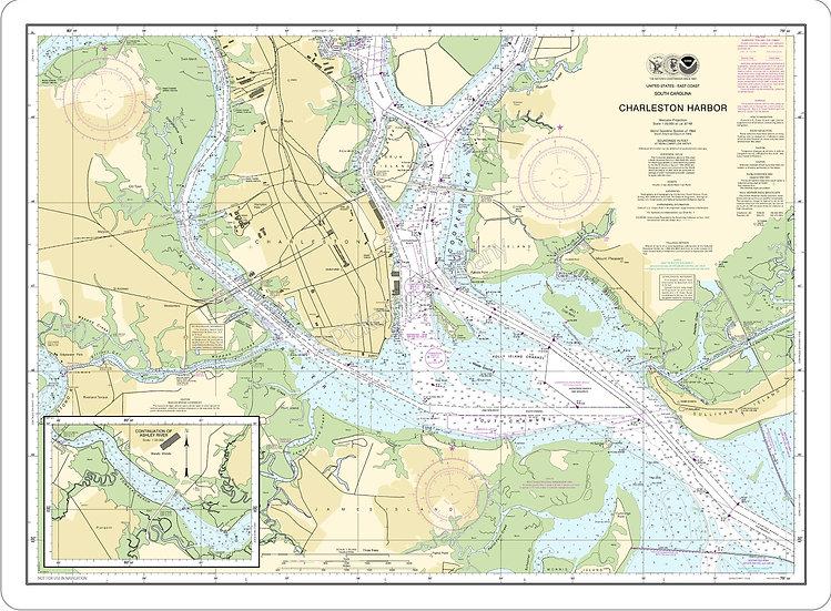 Nautical Chart 11524 'Charleston Harbor' Placemat