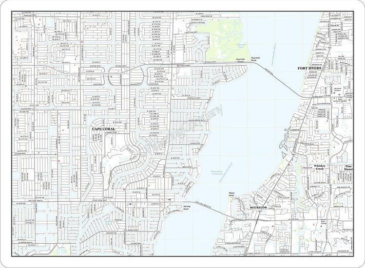 Topographic Map 'Cape Coral, FL' Placemat
