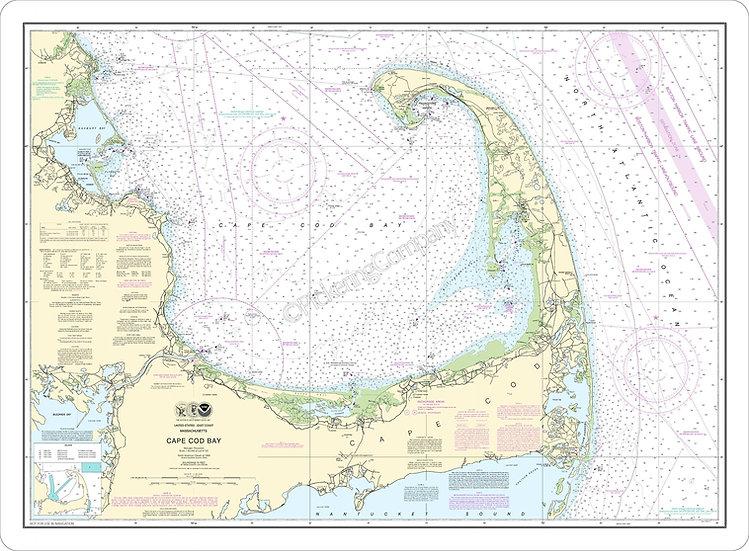Nautical Chart 13246 'Cape Cod' Placemat