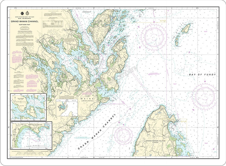 Nautical Chart 13394 'Grand Manan Channel' Placemat