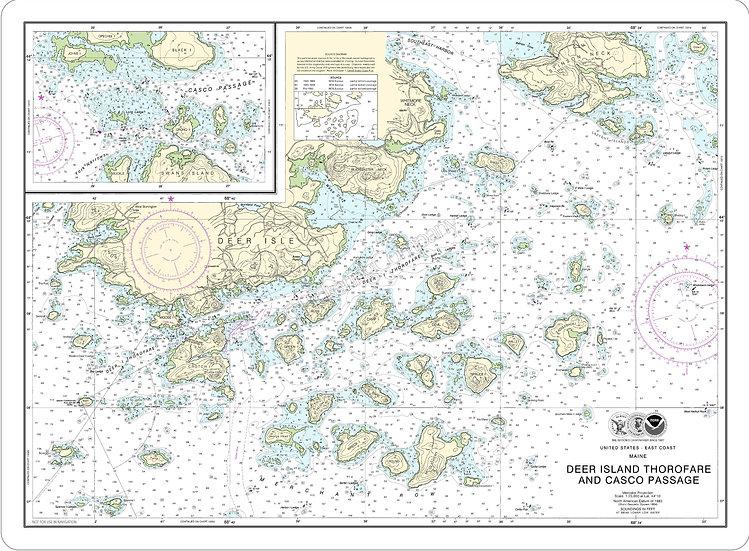 Nautical Chart 13315 'Deer Island Thorofare and Casco Passage' Placemat