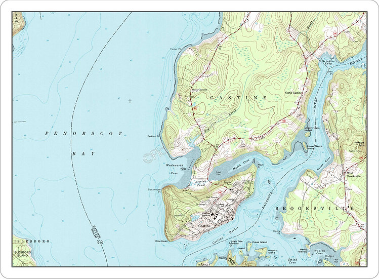 Topographic Map 'Castine, Maine' Placemat