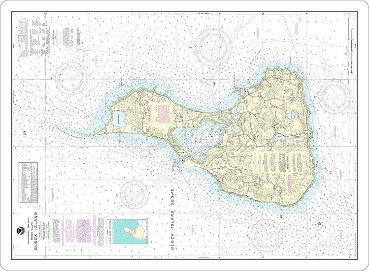 Nautical Chart 13217 'Block Island' Placemat
