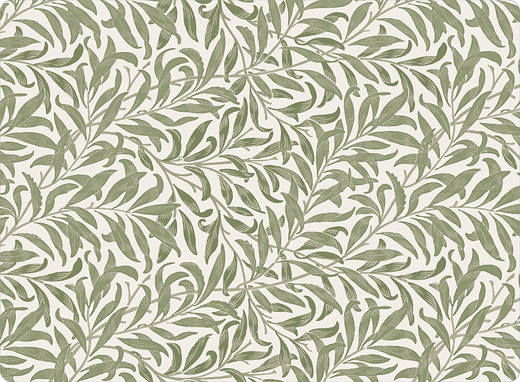 William Morris Wallcovering 'Willow Bough' Sage Placemat