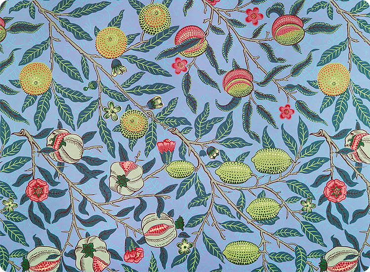 William Morris Wallcovering 'Pomegranate' Blue Placemat