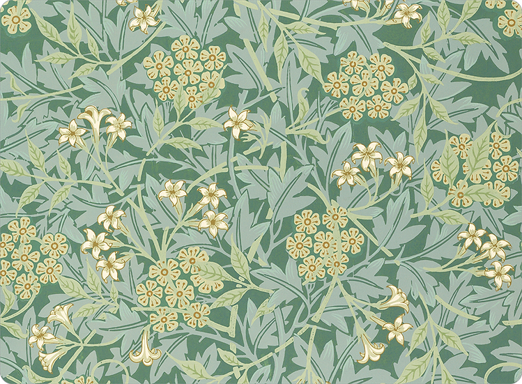 William Morris Wallcovering 'Jasmine' Green Placemat