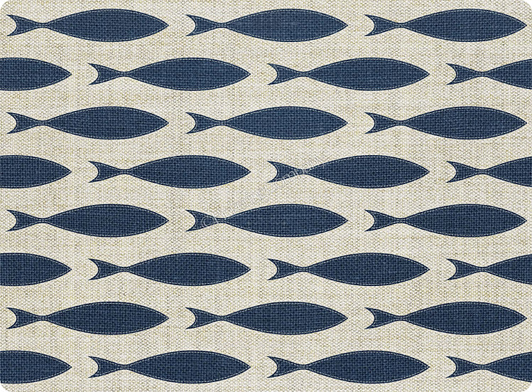 'Blue Fish' Pickering Collection Placemat