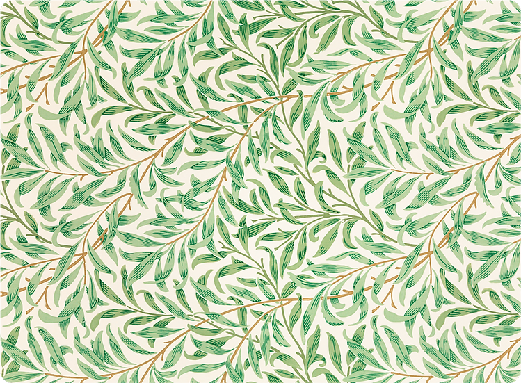 William Morris Wallcovering 'Willow Bough' Green Placemat