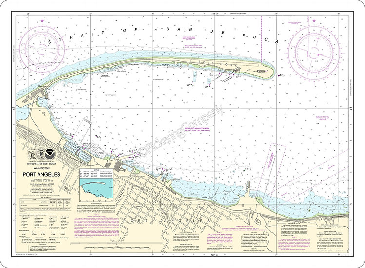Nautical Chart 18468 'Port Angeles' Placemat