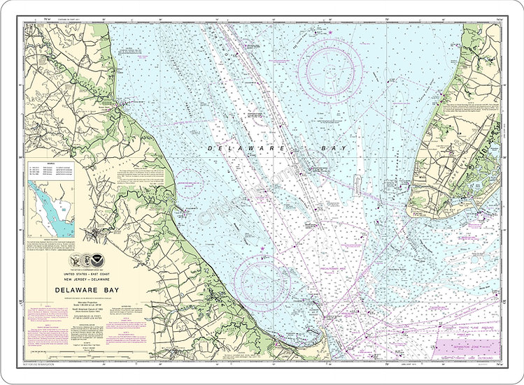 Nautical Chart 12304 'Delaware Bay' Placemat