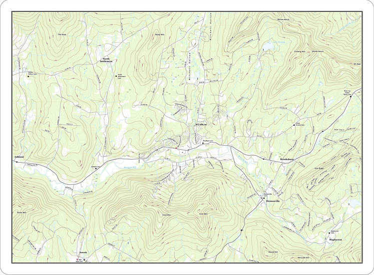 Topographic Map 'Windham, NY' Placemat