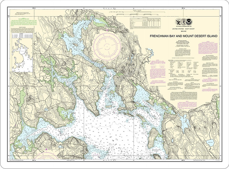 Nautical Chart 13318 'Frenchman Bay & MDI' Placemat