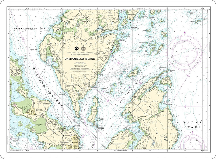 Nautical Chart 13396 'Campobello-Island' Placemat