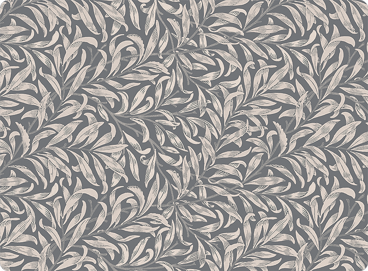 William Morris Wallcovering 'Willow Bough' Gray Placemat