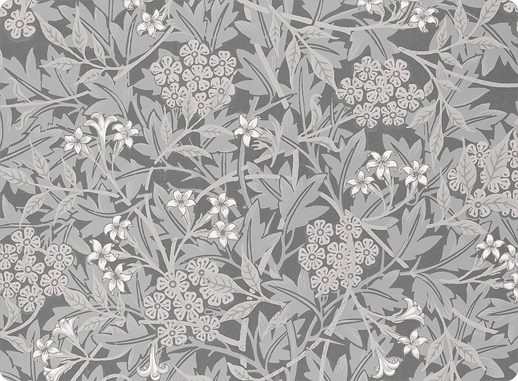 William Morris Wallcovering 'Jasmine' Gray Placemat