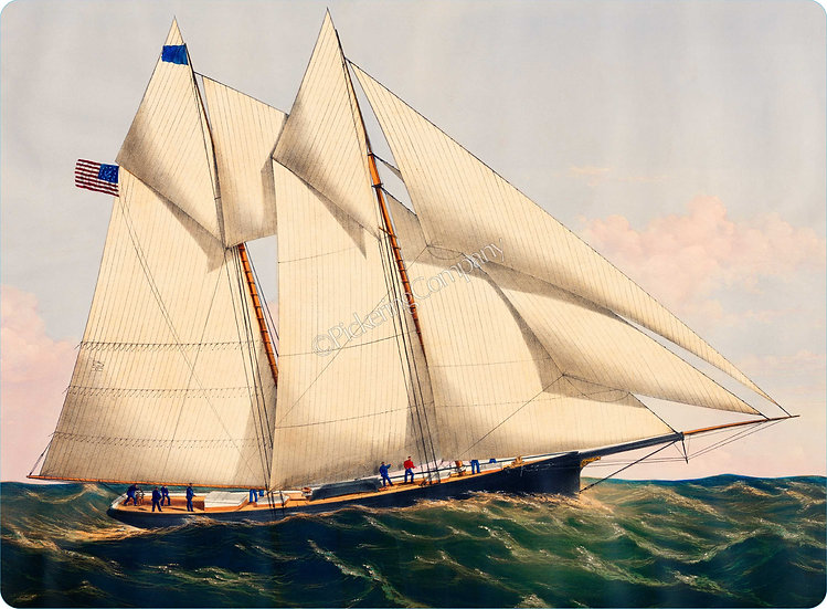 Currier & Ives 'Two Masted Schooner' Placemat