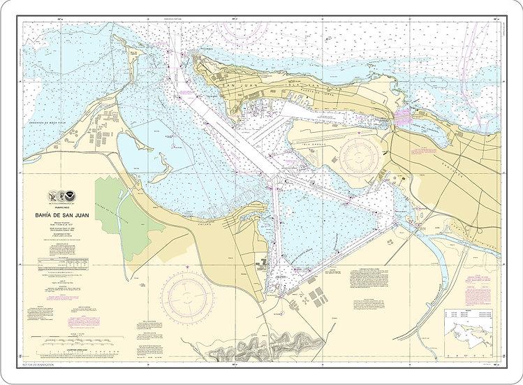 Nautical Chart 25670 'Bahia De San Juan' Placemat