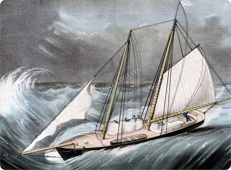 Currier & Ives 'Pilot Boat in a Storm' Placemat