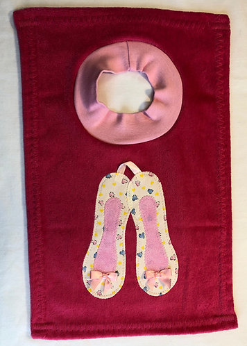 Ballet Slippers Bib