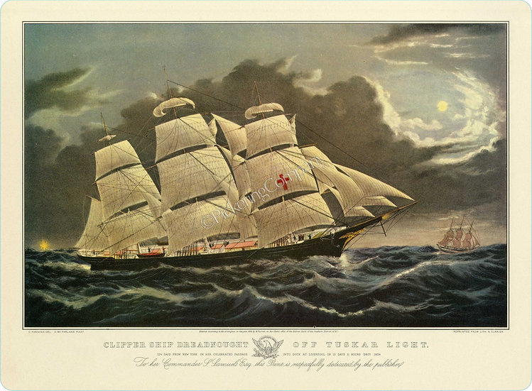 Currier & Ives 'Dreadnaught' Placemat