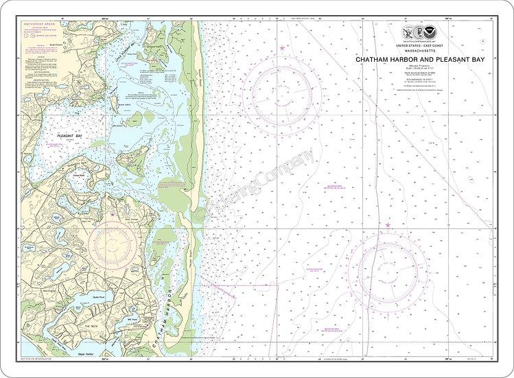 Nautical Chart 13248 'Chatham Harbor & Pleasant Bay' Placemat