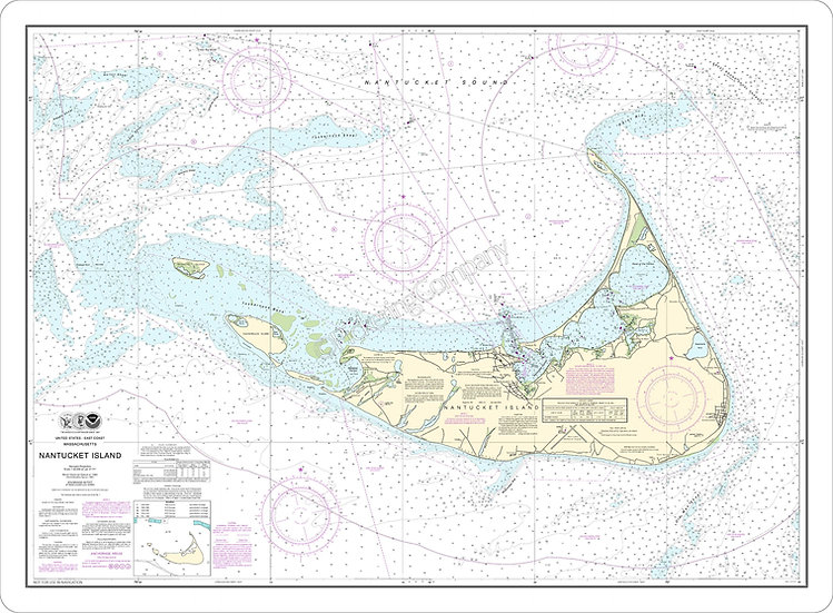 Nautical Chart 13241 'Nantucket' Placemat