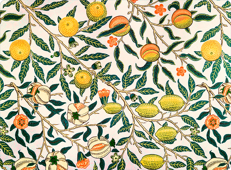 William Morris Wallcovering 'Pomegranate' Cream Placemat