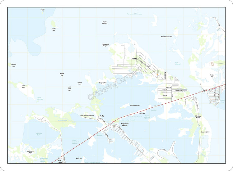 Topographic Map 'Sugarloaf Key, FL' Placemat