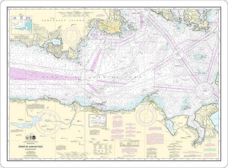 Nautical Chart 18465 'Strait of Juan de Fuca - Eastern Part' Placemat
