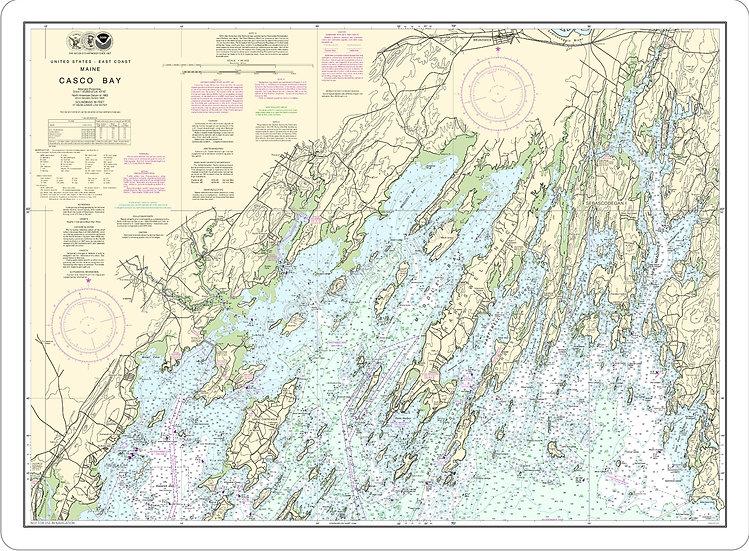 Nautical Chart 13290 'Casco Bay' Placemat