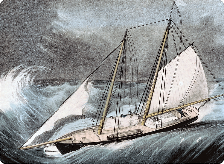 Currier & Ives 'Pilot Boat in a Storm' Placemats - Set of 4