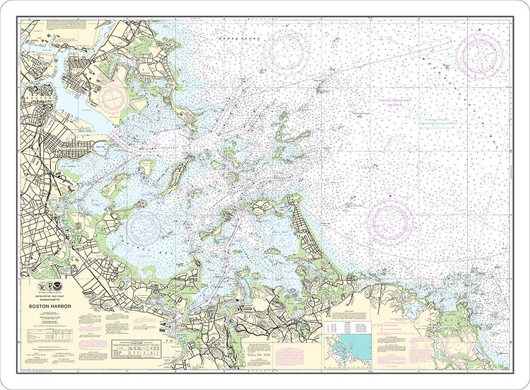 Nautical Chart 13270 'Boston Harbor' Placemat