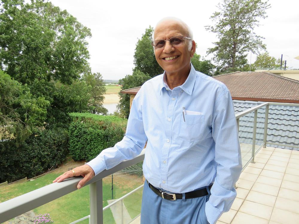 Dr Ravi at home in Windsor