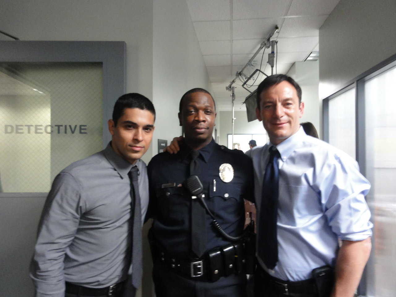 Melvin as a cop.