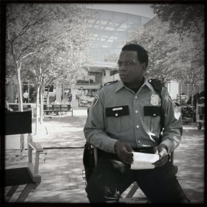 Melvin on the set of Grey's Anatomy