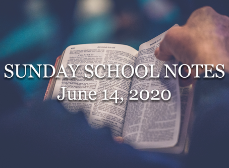 Sunday School: Life in the Spirit, Part 2 (Romans 8:5-11) - 6/14/20
