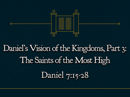 Daniel's Vision of the Kingdoms, Part 3: The Saints of the Most High (Daniel 7:15-28) - 11/22/20
