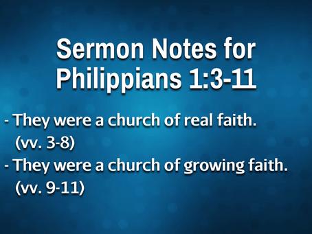 Philippians 1:3-11 - 8/25/21