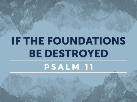 If the Foundations Be Destroyed (Psalm 11) - 5/24/20