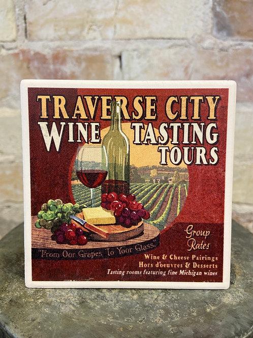 Traverse City Wine 🍷 Tasting Coaster