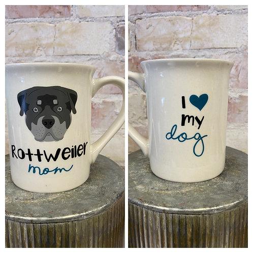 Rottie mom mug