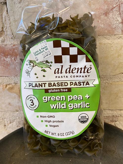 al dente' green pea and wild garlic pasta