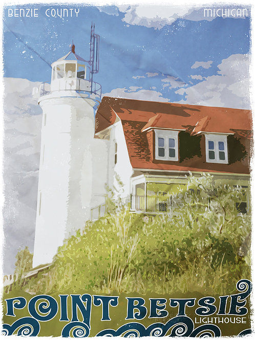 """Point Betsie Poster - 18""""x24"""""""