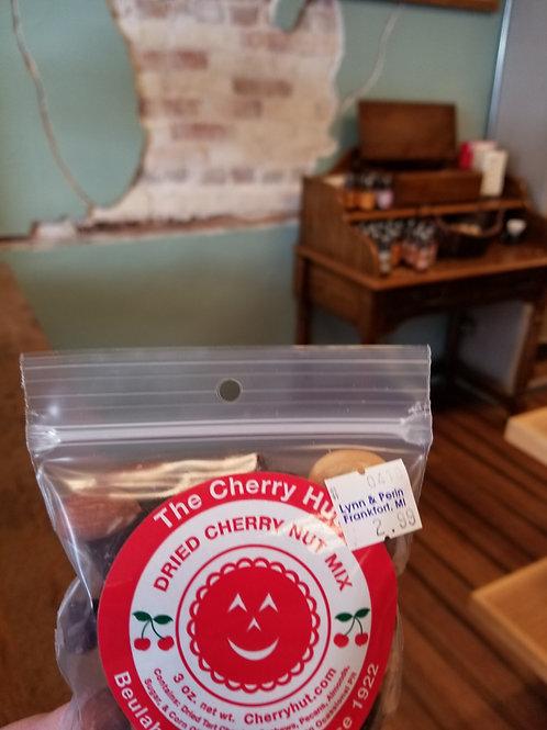 🍒 cherry hut: 3oz dried cherry nut mix
