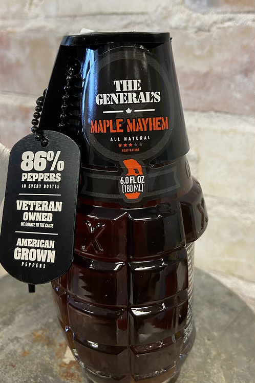 Maple Mayhem The Generals Hot Sauce