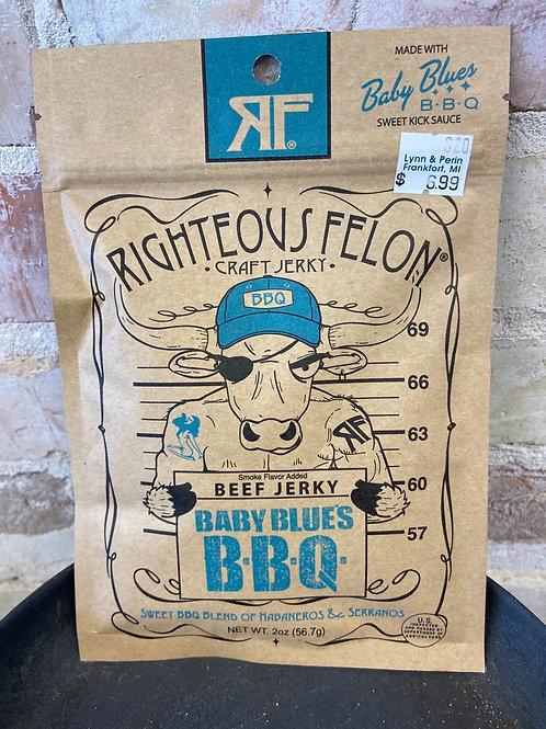 Righteous Felon Baby Blues B•B•Q• Craft Jerky