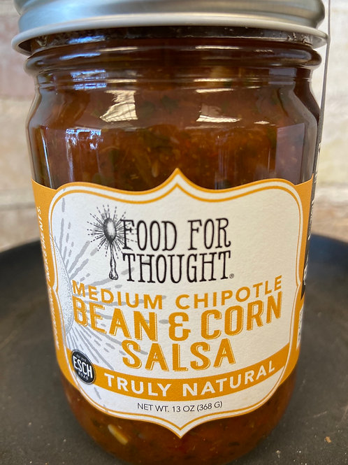Food For Thought Medium Chipotle Bean & Corn Salsa